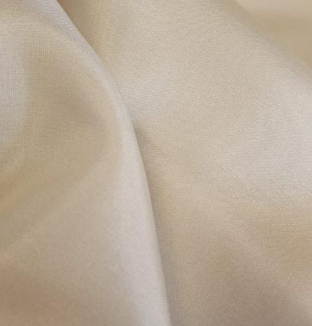 Light beige silk lining fabric. Photo 6