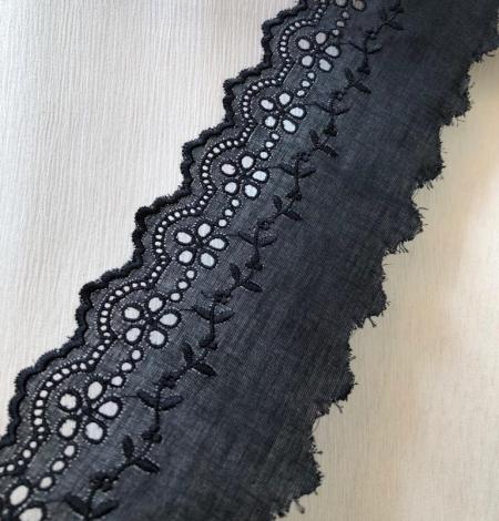 Black cotton lace trim. Photo 3