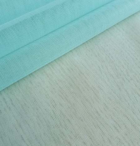 Tiffany blue tulle fabric. Photo 4