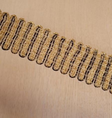 Gold and black elastic ribbon application. Photo 6