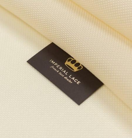 Creme color pure silk gazar fabric. Photo 2