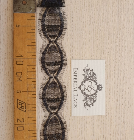 Black chantilly Lace Trim French Lace Viscose. Photo 6