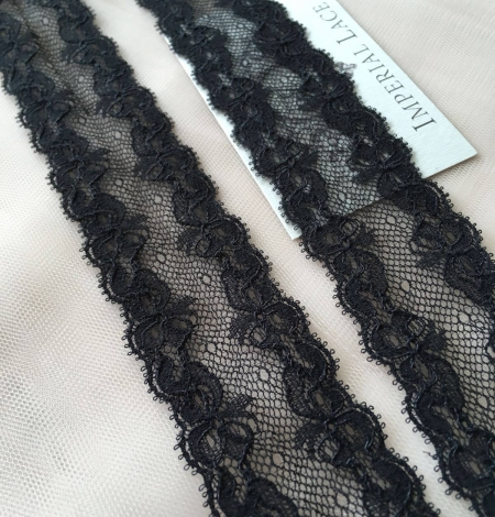 Black elastic lace trim. Photo 2