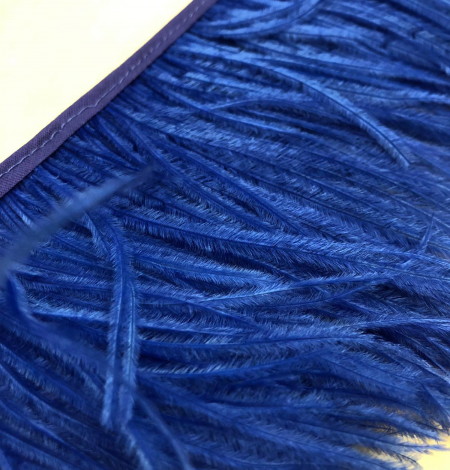 Blue ostrich feathers. Photo 5