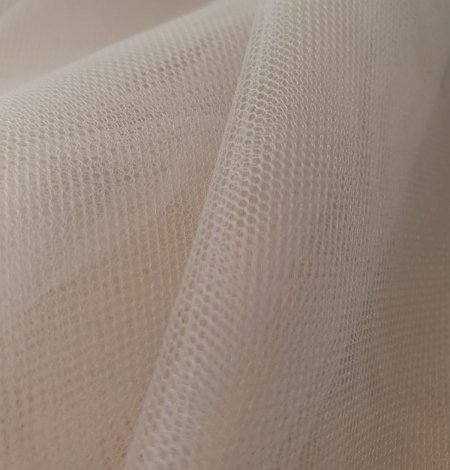 Bluish grey 100% polyamide clear invisible tulle fabric. Photo 6