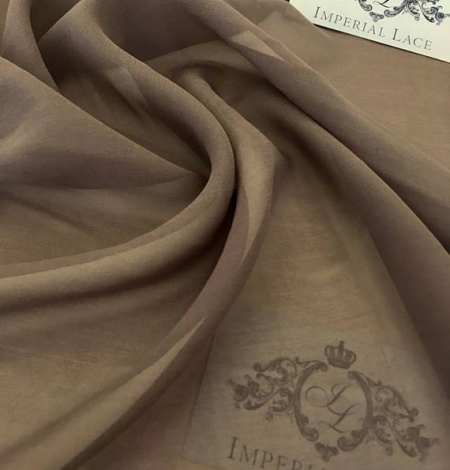 Brown Silk crepe Chiffon . Photo 1