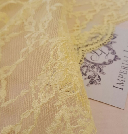 Yellow Lace Fabric. Photo 3