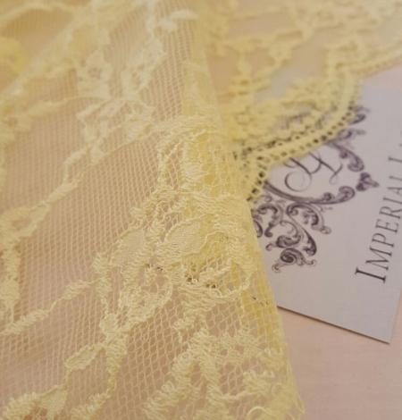 Yellow Lace Fabric. Photo 3
