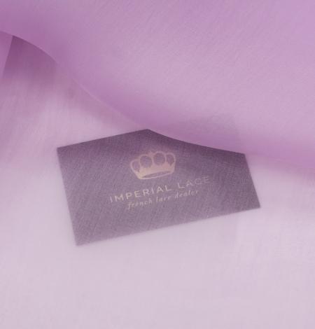 Light lavander lilac silk organza fabric. Photo 5