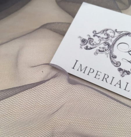 Grey tulle fabric. Photo 4