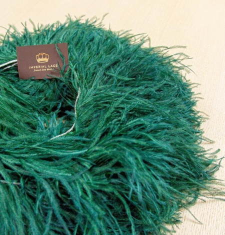 Dark green ostrich feather. Photo 5