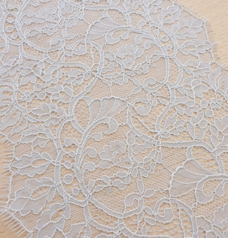 Light blue floral pattern chantilly lace trimming. Photo 4