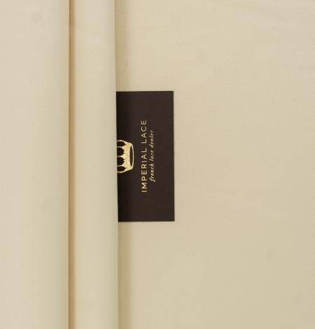 Cream color silk duchess fabric . Photo 2