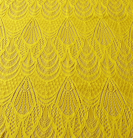 Yellow lace fabric. Photo 2