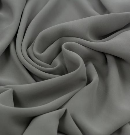 Dark gray silk crepe fabric. Photo 4