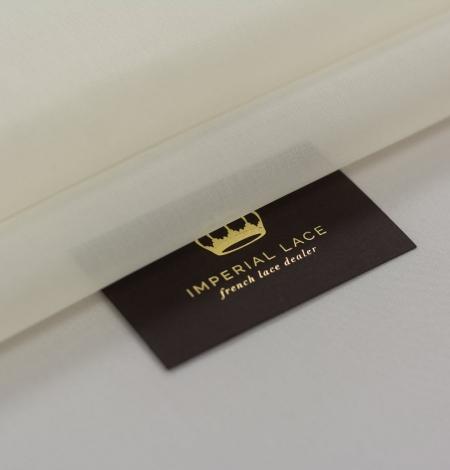 Ivory silk satin organza fabric . Photo 1