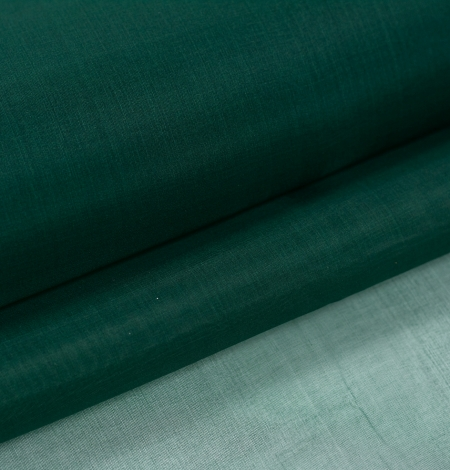 Emerald green silk organza fabric. Photo 8