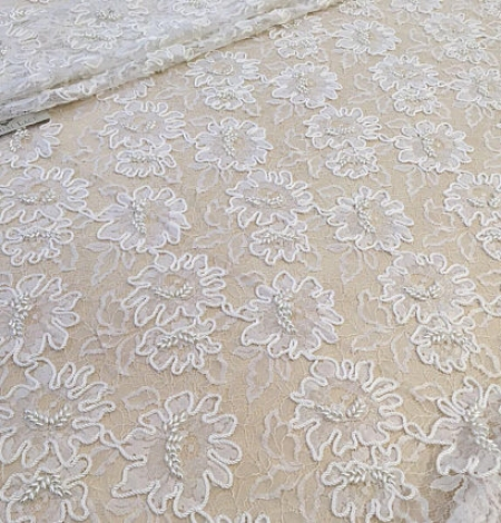 White Lace fabric. Photo 2