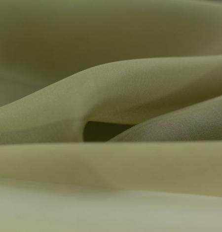Olive green silk organza fabric . Photo 5
