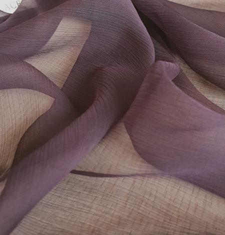 Dark lilac light silk crincle chiffon fabric. Photo 4
