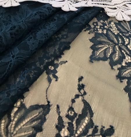Dark green lace fabric. Photo 5