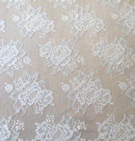 Light blue lace fabric. Photo 5