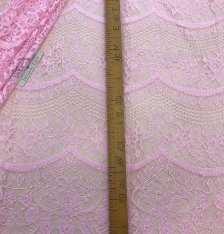 Pink lace fabric. Photo 10