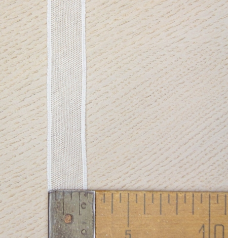 Off white mesh pattern lace trim. Photo 4
