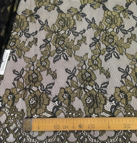 Black with gold lace fabric. Photo 8
