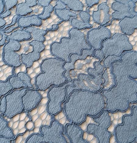 Bluish gray guipure lace fabric. Photo 4