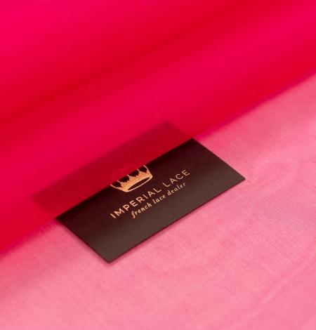 Fuchsia pink silk organza fabric. Photo 1