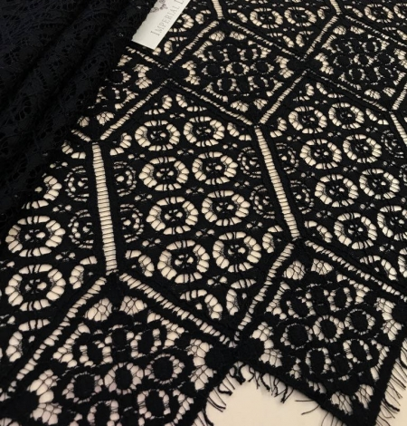 Black Lace fabric - French style. Photo 2