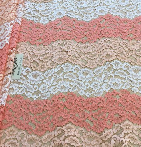 Multicolor lace fabric. Photo 6