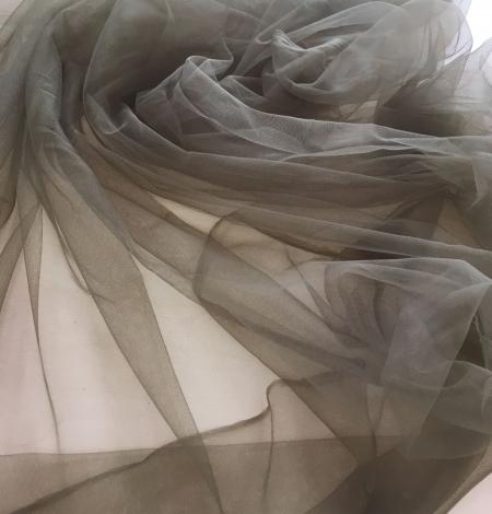 Khaki tulle fabric. Photo 6