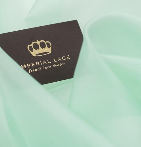 Lettuce green silk organza fabric. Photo 4