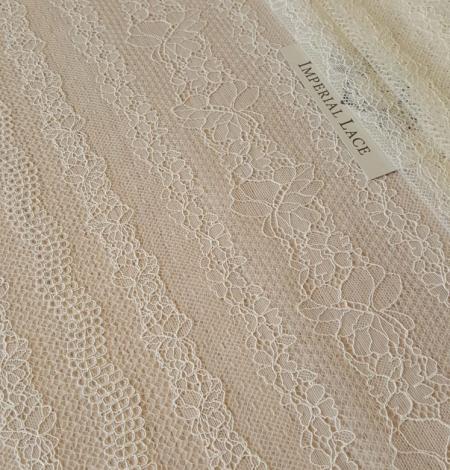 Champagne lace fabric. Photo 6