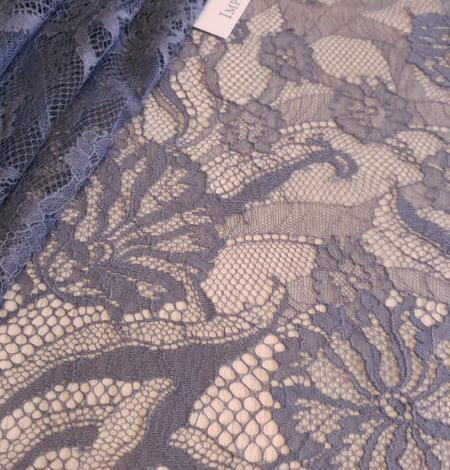 Graphite gray lace fabric. Photo 1