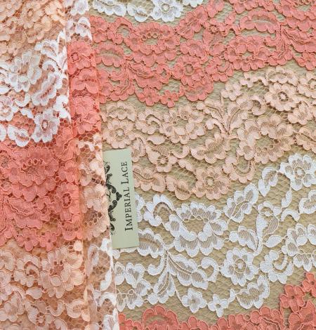 Multicolor lace fabric. Photo 1