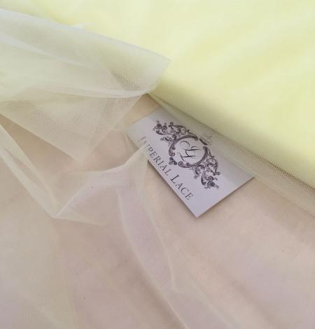 Citrus yellow tulle fabric. Photo 8
