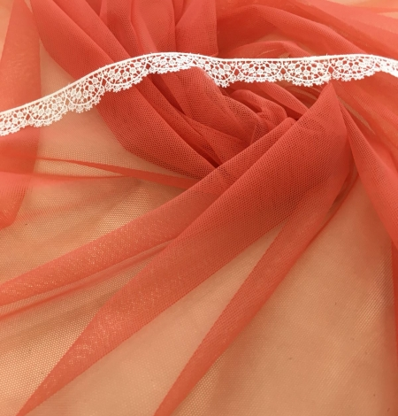 Orange tulle fabric. Photo 6