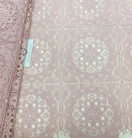 Old rose lace fabric, French Lace. Photo 3