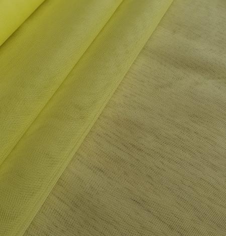 Yellow tulle fabric. Photo 3