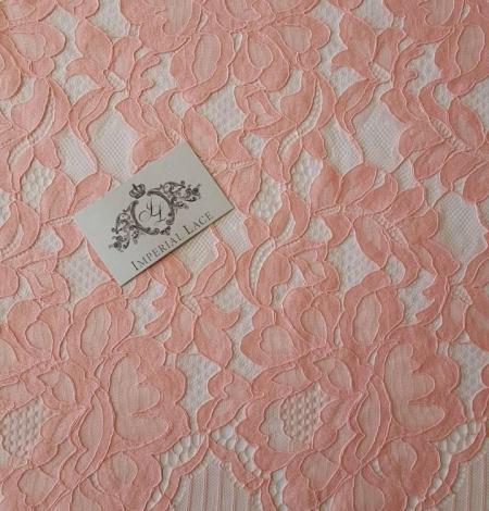 Salmon Pink Lace Trim. Photo 3