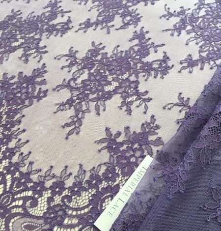 Lilac lace fabric. Photo 1