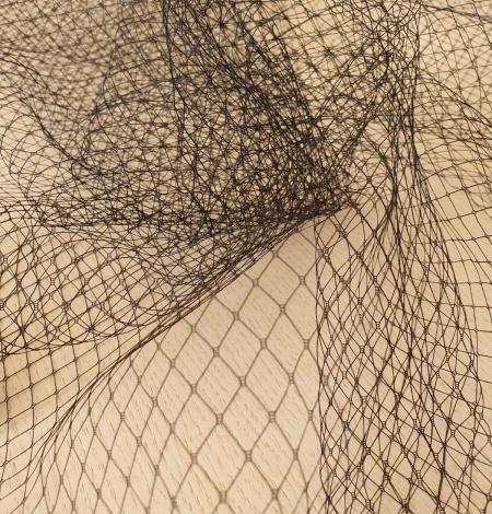 Black hat net tulle fabric. Photo 5