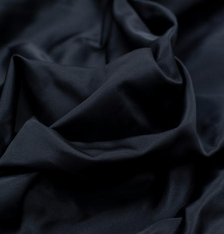 Black silk duchess fabric. Photo 6