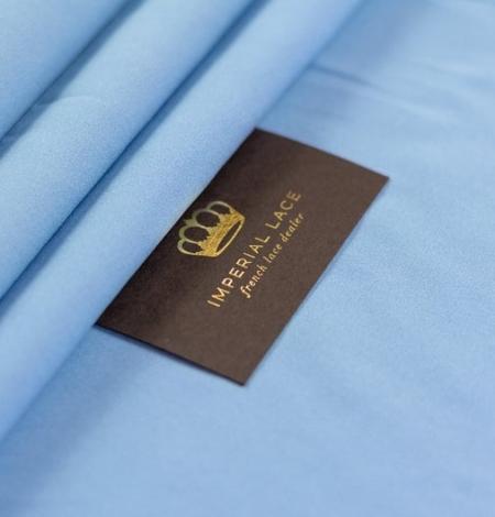Blue silk with elastane crepe fabric. Photo 6