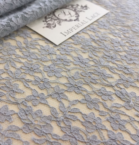 Grey Sophie Hallette lace fabric. Photo 2