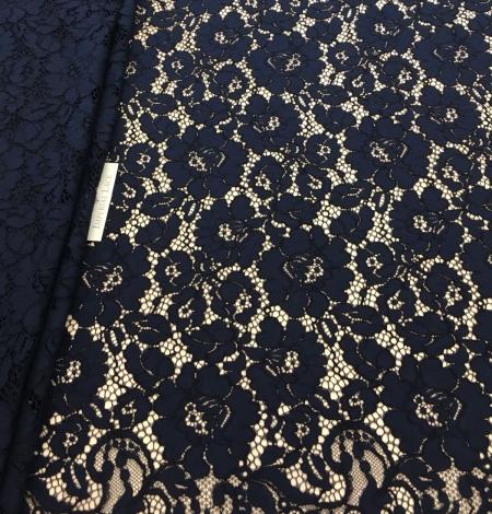 Dark blue lace fabric. Photo 4