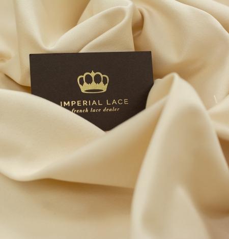 Cream color silk duchess fabric . Photo 6